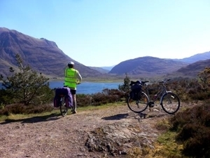 Cycling around Loch Ness