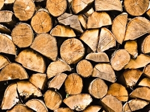 Logs are our main source of heating at Balachladaich B&B