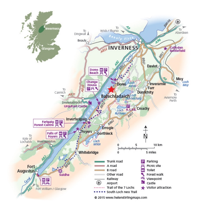 Map of South Loch Ness